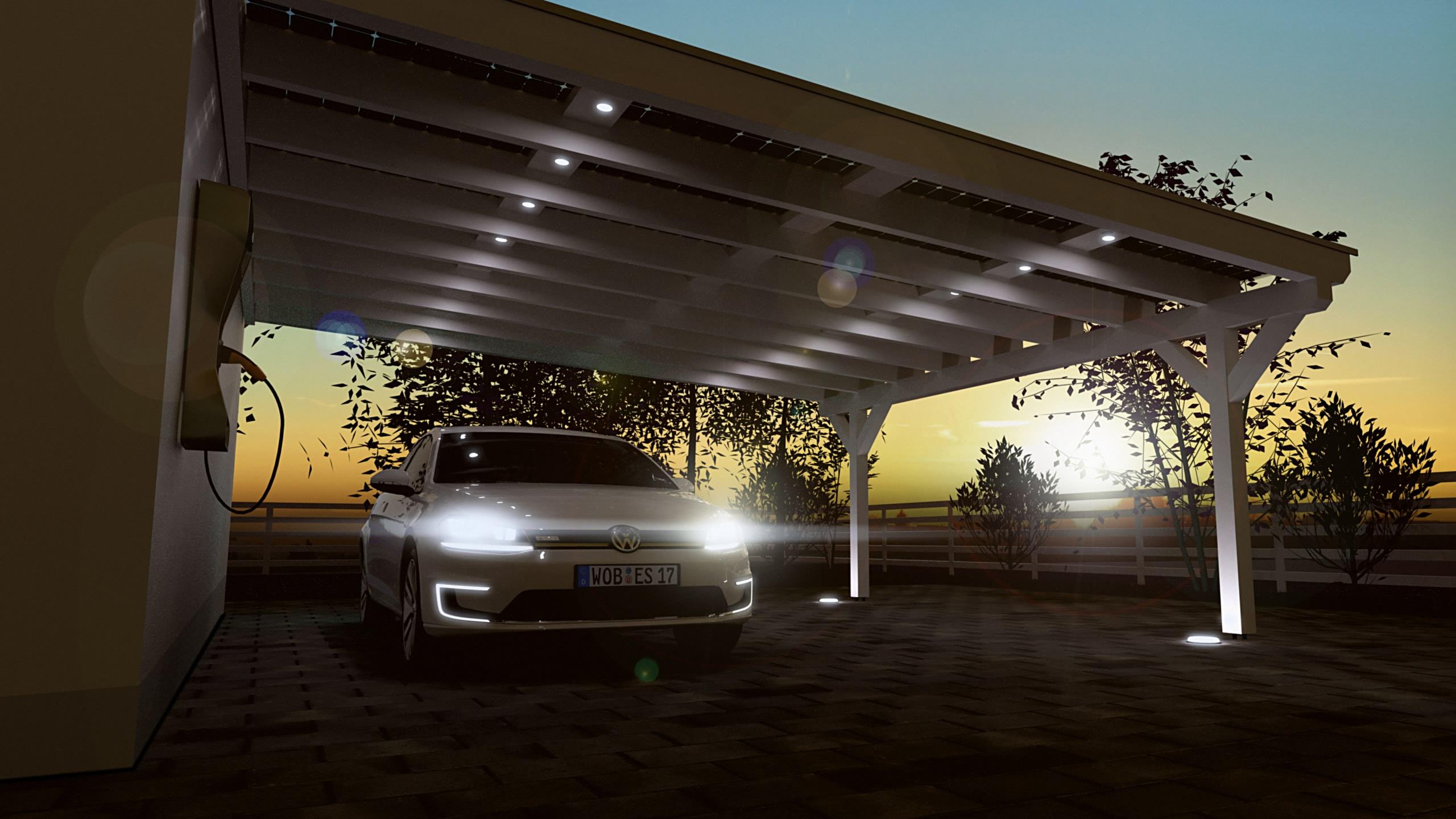 solarcarports und solarterrassen ab  aus holz alu