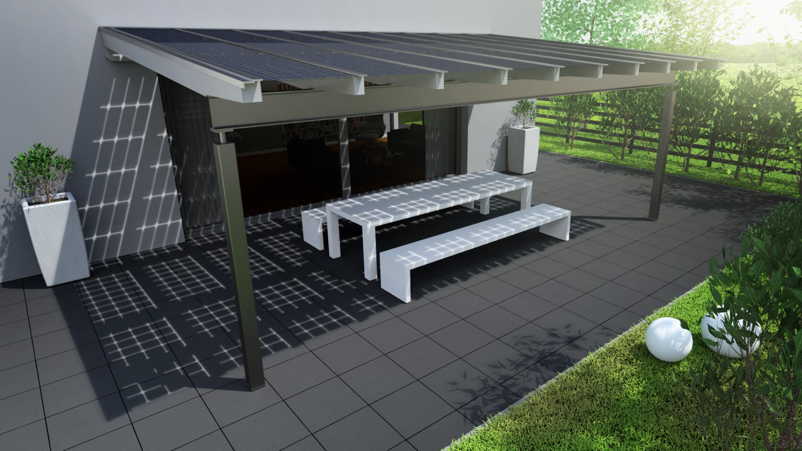 solarterrasse solarcarport ab 0 aus holz alu oder. Black Bedroom Furniture Sets. Home Design Ideas