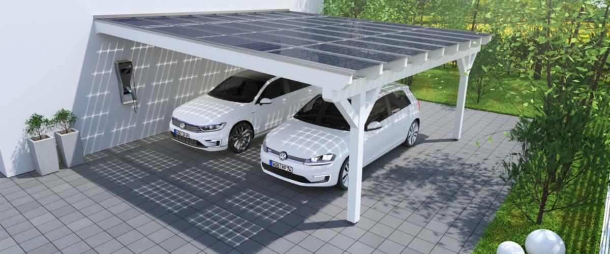 Solarcarports und solarterrassen ab 0 aus holz alu for Solar carport preise