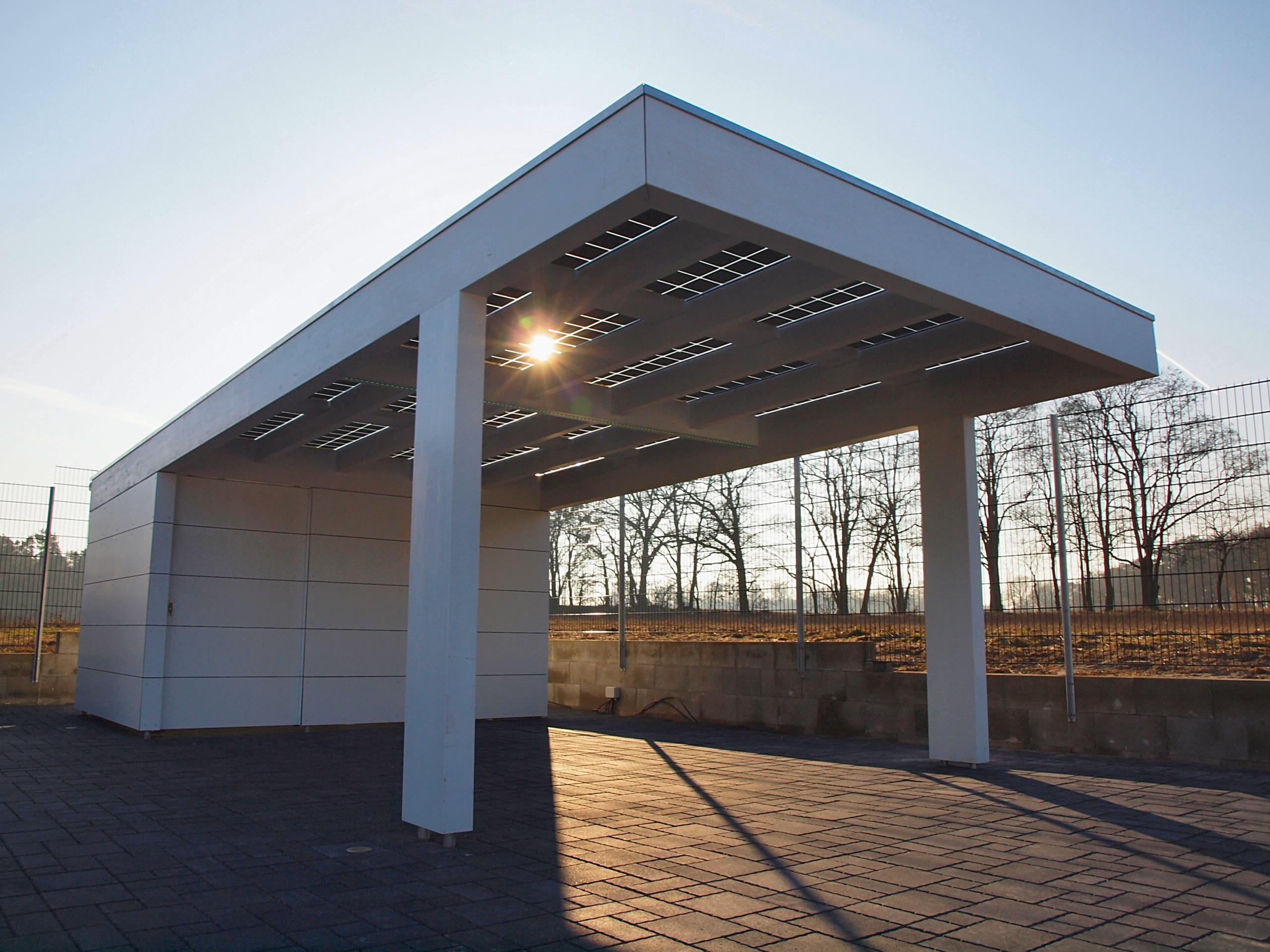 solarcarports und solarterrassen ab 0 aus holz alu oder stahl. Black Bedroom Furniture Sets. Home Design Ideas