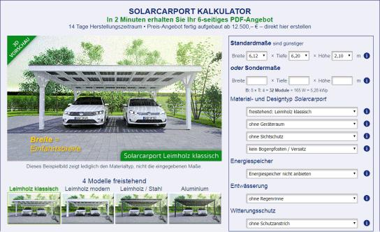 Solarterrassendach solarcarport ab 0 bestellen for Solar carport preise